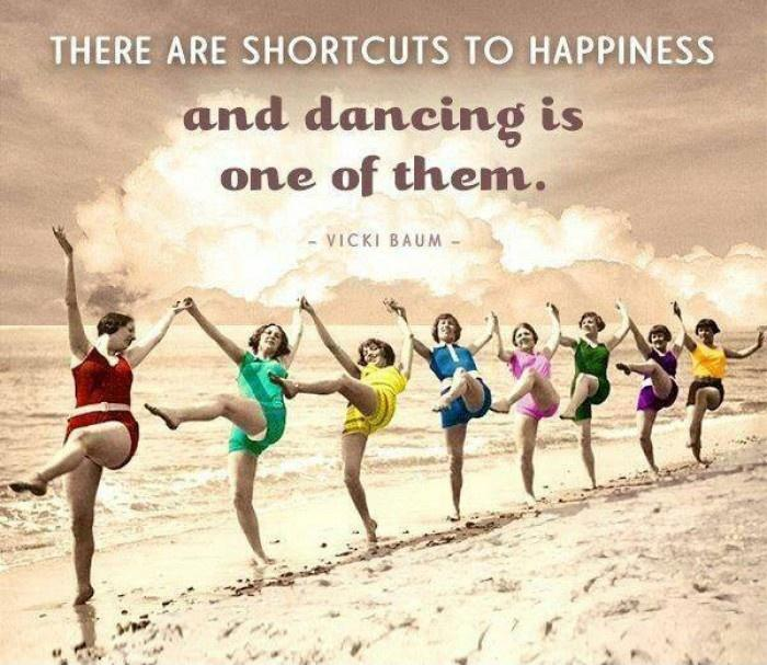 There are short cuts to happiness, and dancing is one of them Picture Quote #1