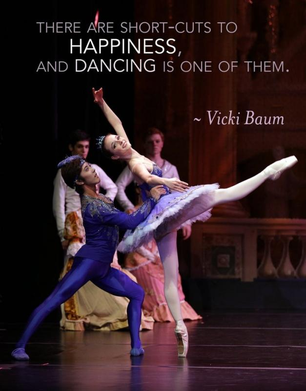 There are short cuts to happiness, and dancing is one of them Picture Quote #2