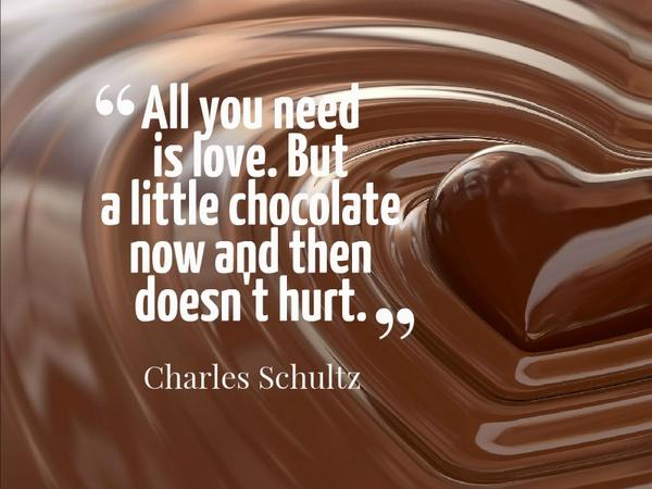 All you need is love. But a little chocolate now and then doesn't hurt Picture Quote #1