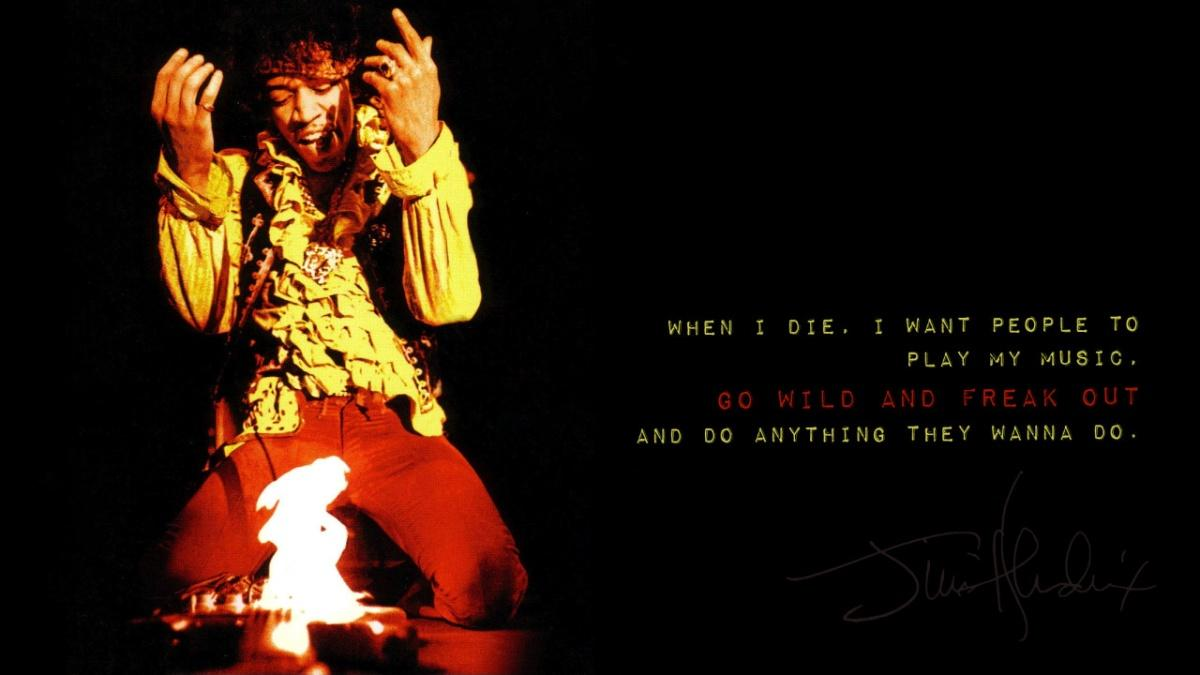 When I die, I want people to play my music, go wild and freak out and do anything they want to do Picture Quote #2