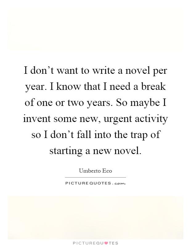 Starting to write a novel