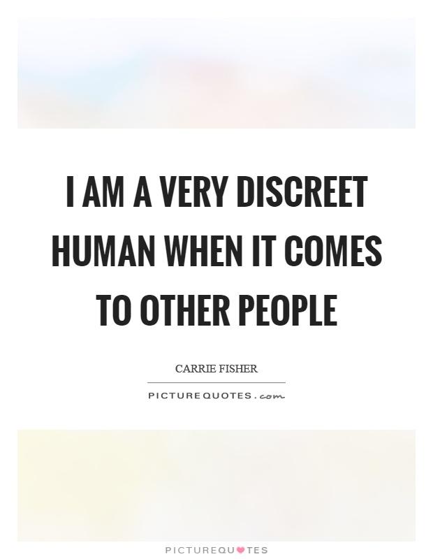 discreet people