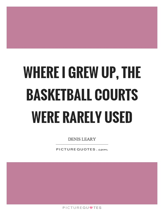 Where I grew up, the basketball courts were rarely used Picture Quote #1