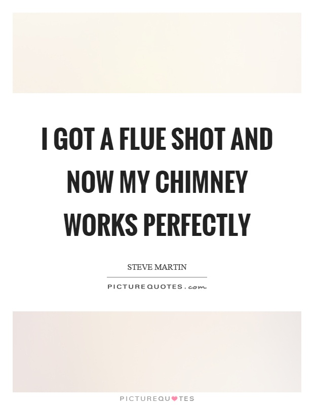 I got a flue shot and now my chimney works perfectly Picture Quote #1