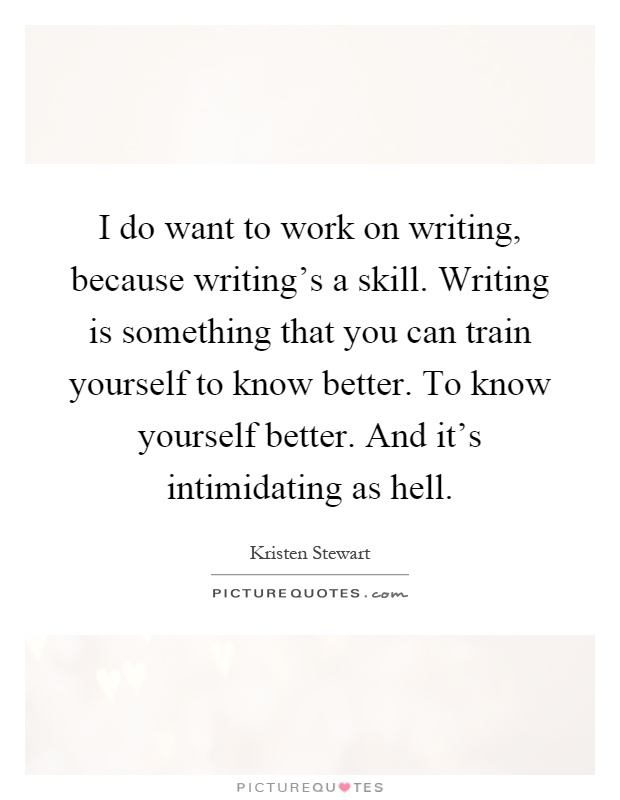 how to work on writing skills