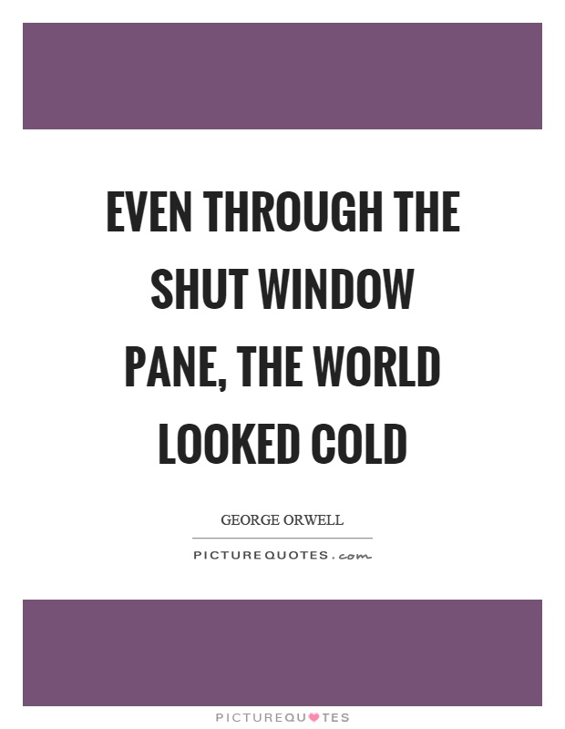 Even through the shut window pane, the world looked cold Picture Quote #1