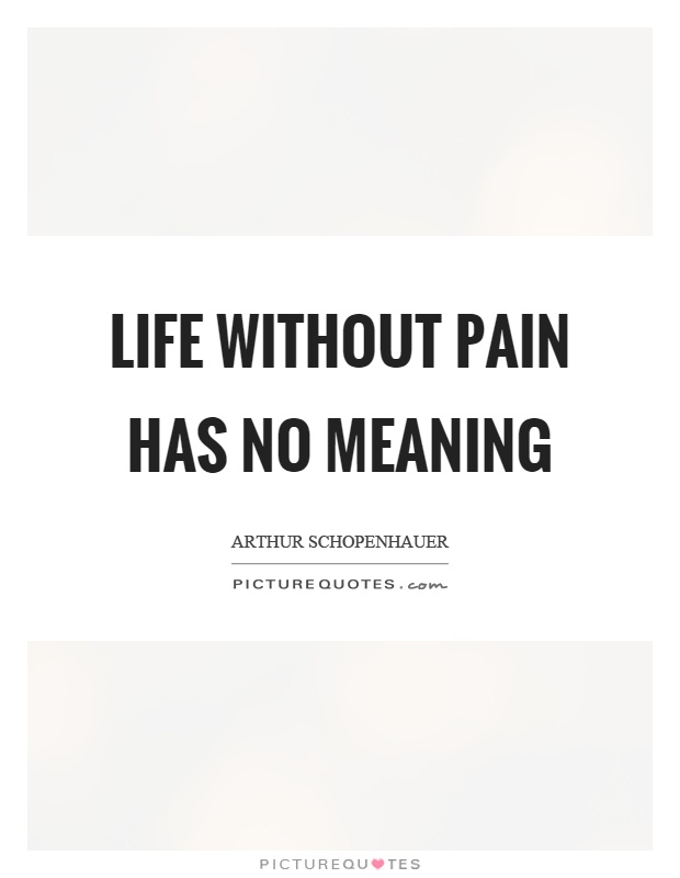 Life Without Pain Has No Meaning Picture Quote #1