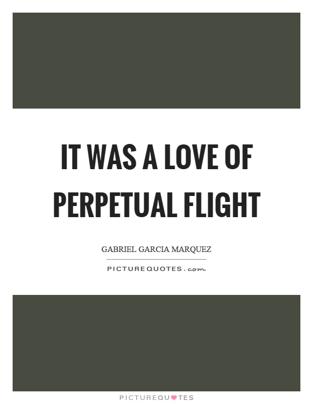 It was a love of perpetual flight Picture Quote #1