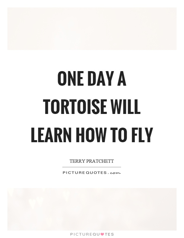 One day a tortoise will learn how to fly Picture Quote #1