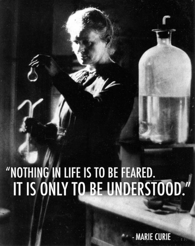 nothing in life is to be feared it is only to be understood Nothing in life isto be fearedit is only to beunderstood  nothing in life isto be fearedit is onlyto be understood.