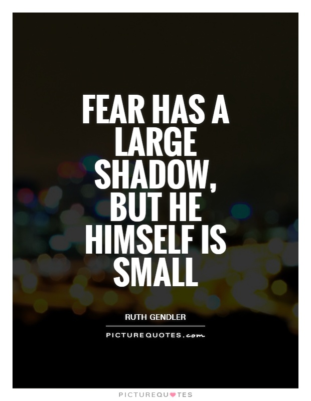 Fear has a large shadow, but he himself is small Picture Quote #1