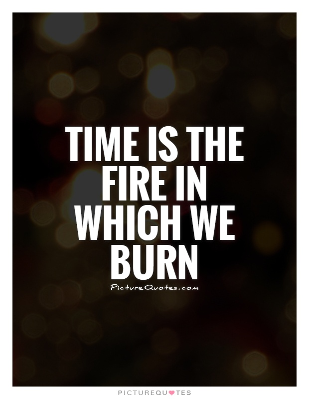 Time is the fire in which we burn Picture Quote #1