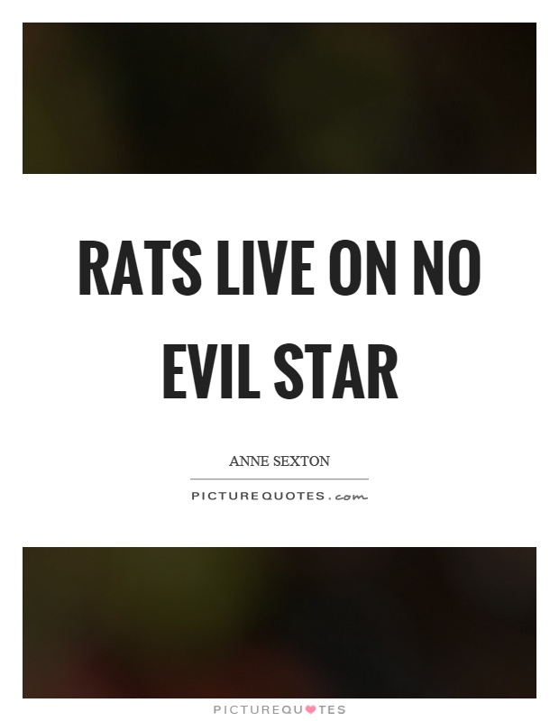 Rats live on no evil star Picture Quote #1