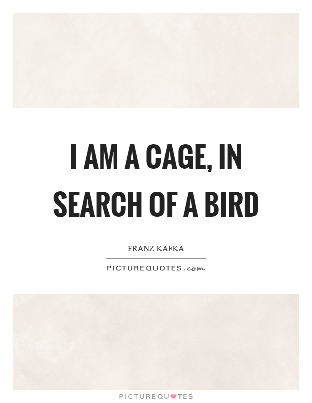 I am a cage, in search of a bird Picture Quote #1