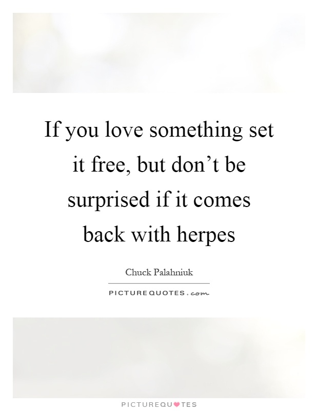 If you love something set it free, but dont be surprised if it ...
