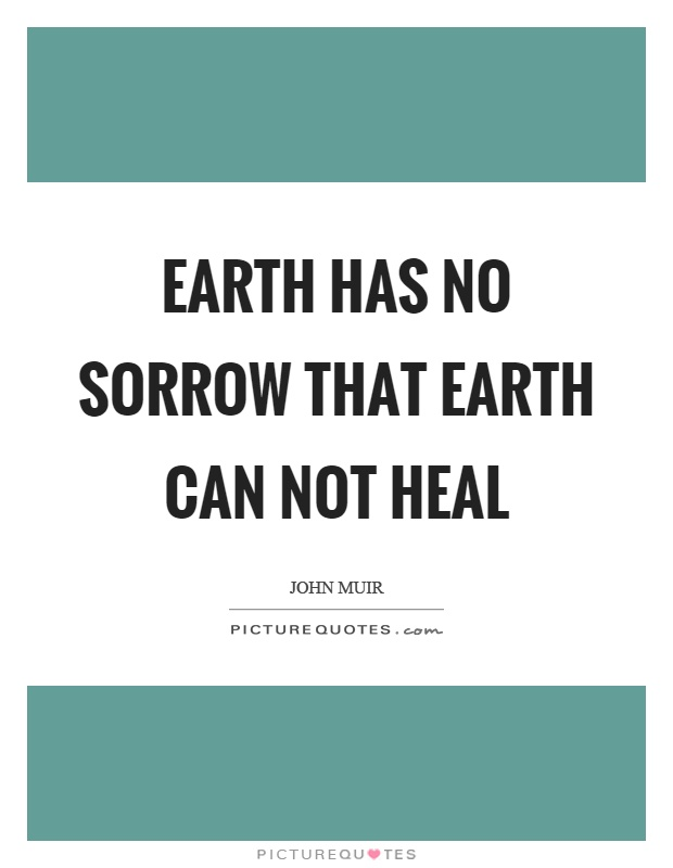 Earth has no sorrow that earth can not heal Picture Quote #1