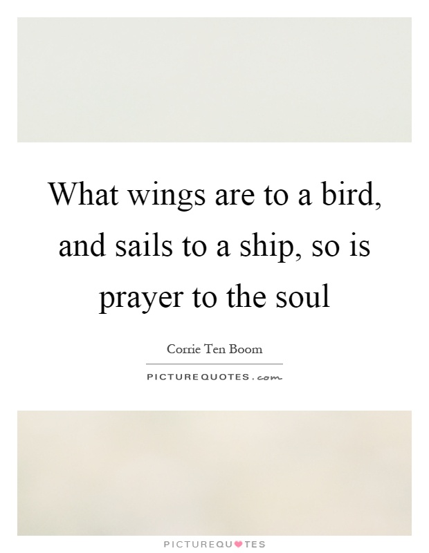 What wings are to a bird, and sails to a ship, so is prayer to the soul Picture Quote #1