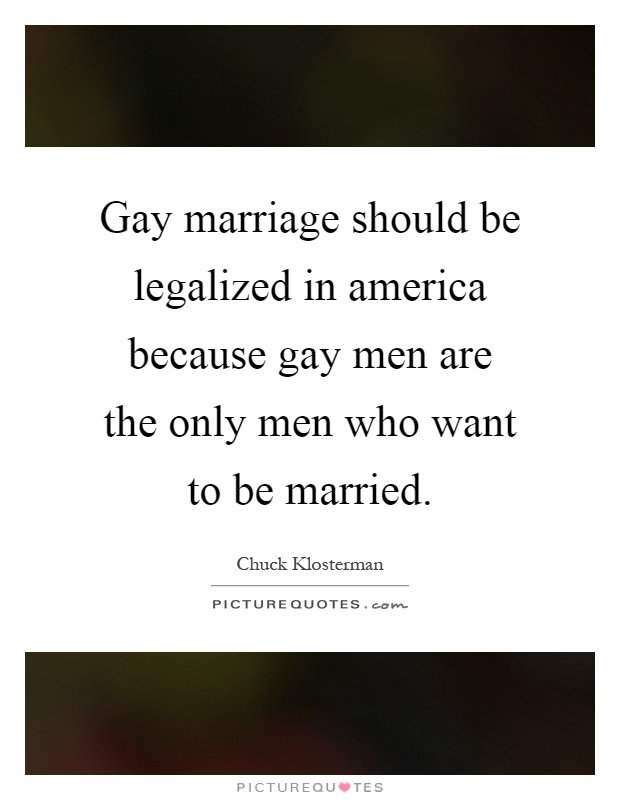 gay marriage should be legalised essay