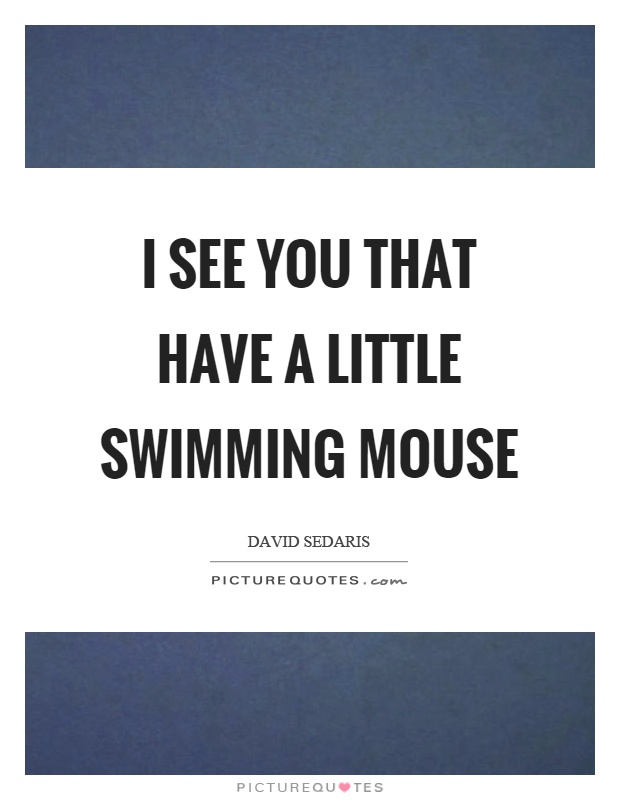 I see you that have a little swimming mouse Picture Quote #1