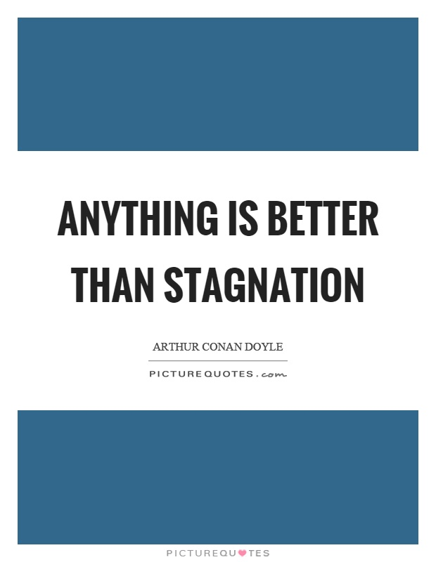 Anything is better than stagnation Picture Quote #1