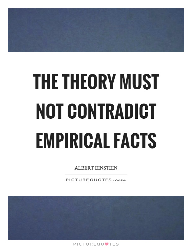 The theory must not contradict empirical facts Picture Quote #1