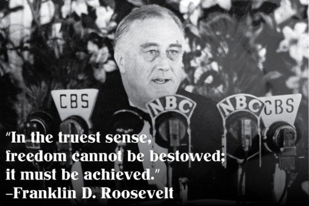 In the truest sense, freedom cannot be bestowed; it must be achieved Picture Quote #2