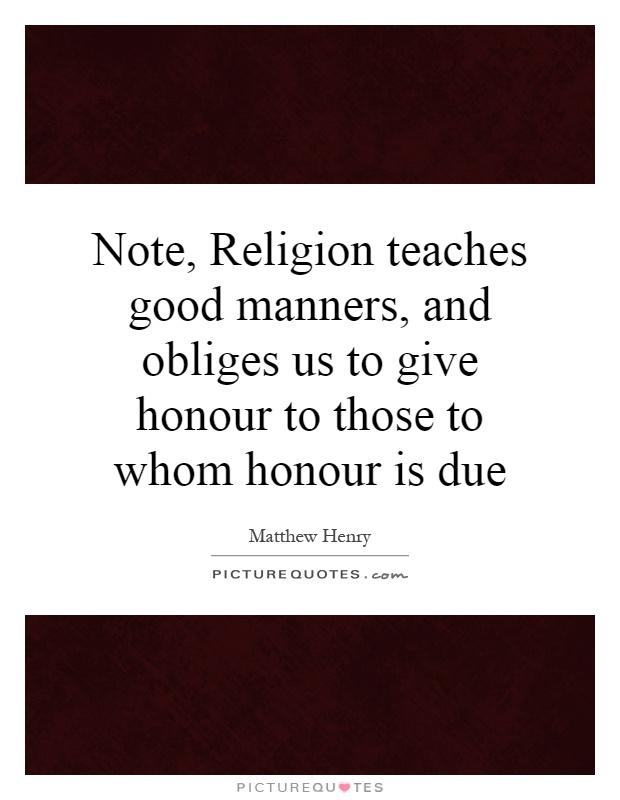 Image result for religion teaches manner