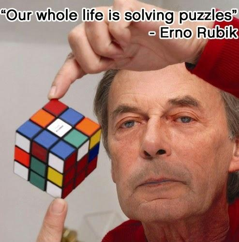 Our whole life is solving puzzles Picture Quote #1
