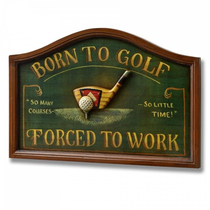 Born to golf. Forced to work Picture Quote #1