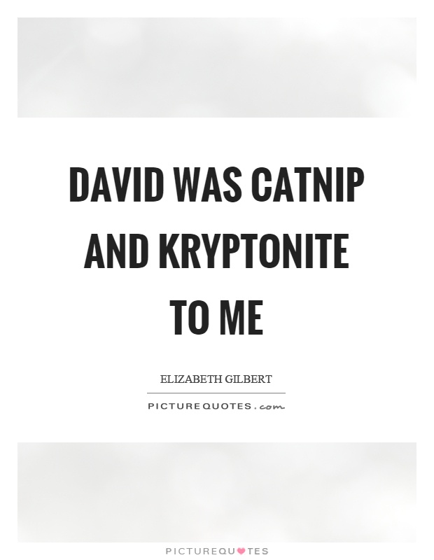David was catnip and kryptonite to me Picture Quote #1