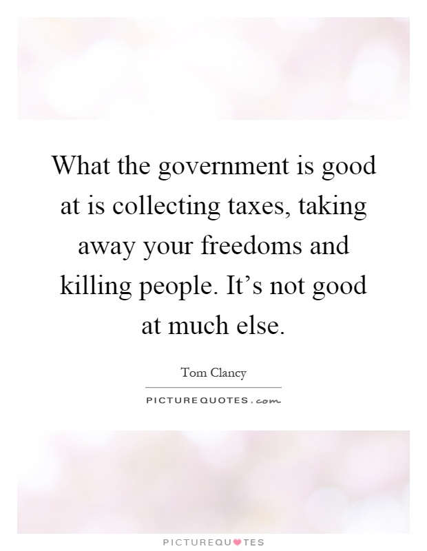 is the government taking away our freedom The government claims that given the threat we face, such a sacrifice of  this  threat, of course, needs to be taken seriously  we cannot reduce this threat  without reducing our freedom, the exact opposite of what the cato institute wants.