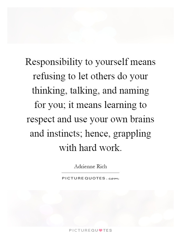what does prsonal responsibility means to me essay
