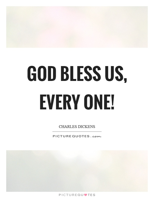 god bless us every one picture quotes
