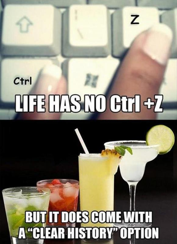 Life has no Ctrl  Z but it does come with a delete history option Picture Quote #1