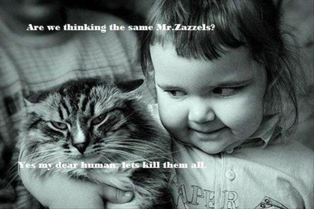 Are you thinking the same Mr. Zazzles? Yes my dear human, let's kill them all Picture Quote #1