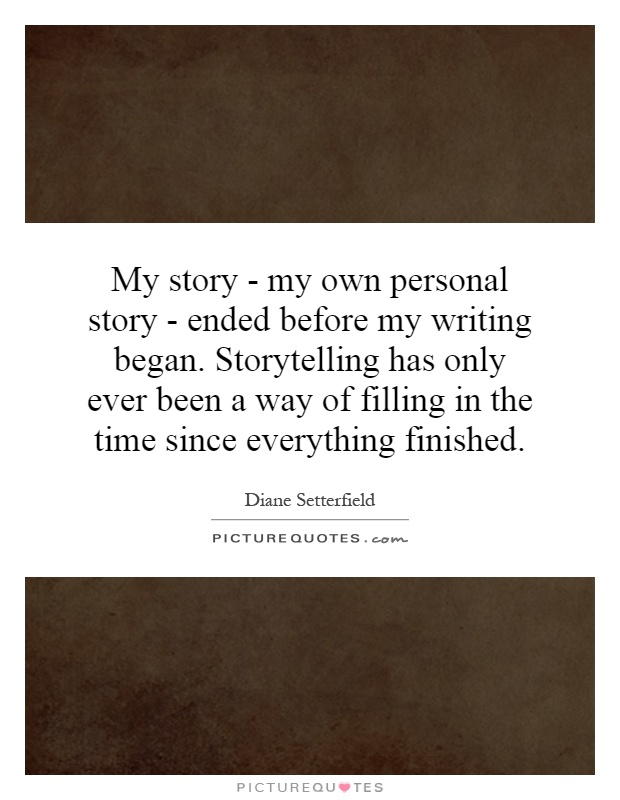 a personal story a ship of my own The story of my life  i knew my own mind well enough and always had my own way,  this was my first great sorrow-my first personal experience with death.