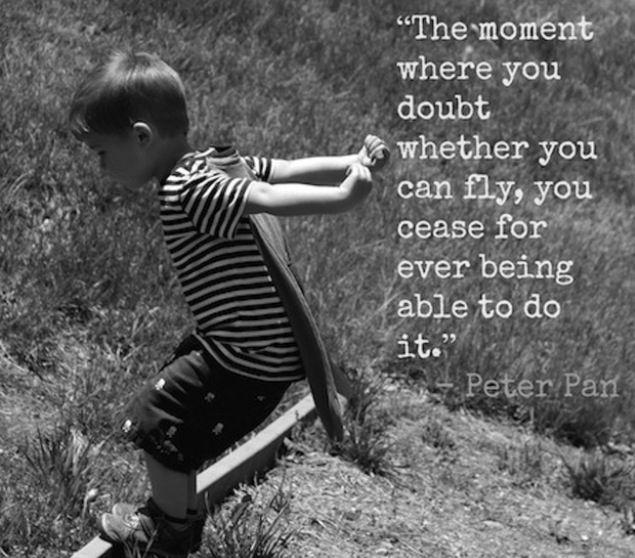 The moment you doubt whether you can fly, you cease for ever to be able to do it Picture Quote #1