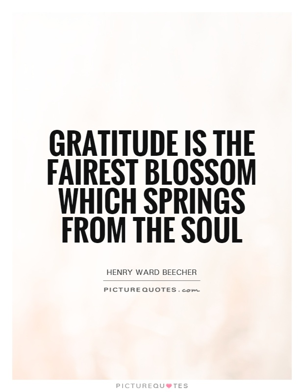 Gratitude is the fairest blossom which springs from the soul Picture Quote #1