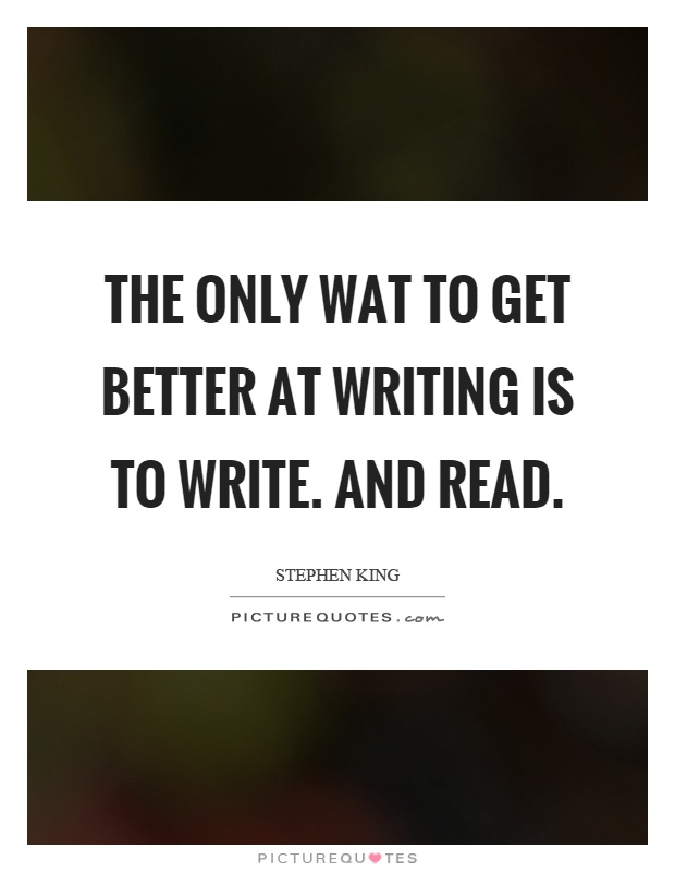 How to get better in writing?