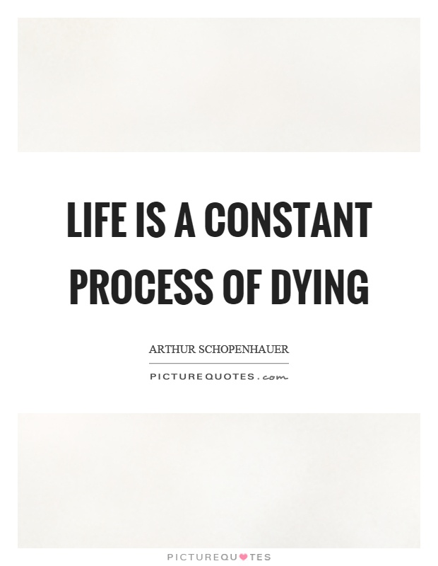 Life is a constant process of dying Picture Quote #1