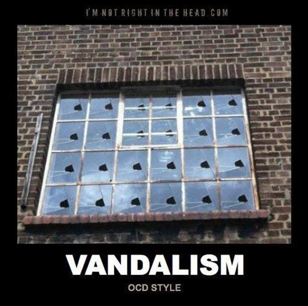 Vandalism OCD style Picture Quote #1