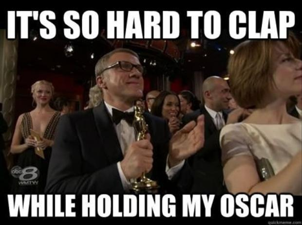 It's so hard to clap while holding my Oscar Picture Quote #1