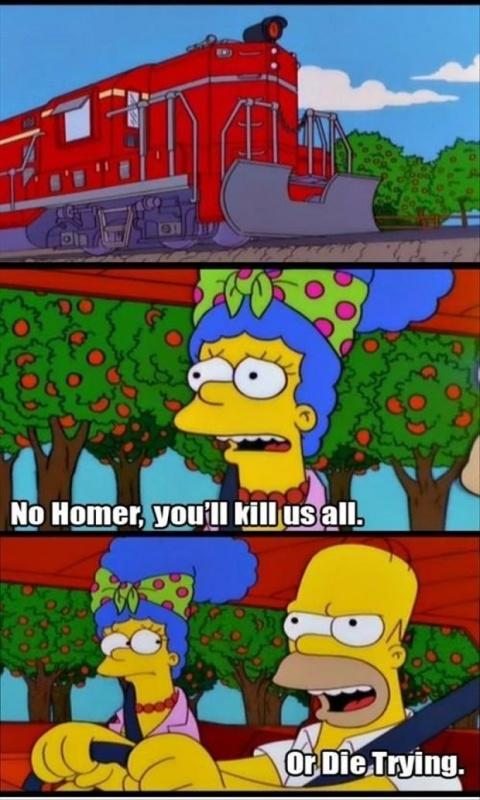 No Homer, you'll kill us all. Or die trying Picture Quote #1