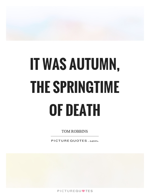 Autumn and death quotes