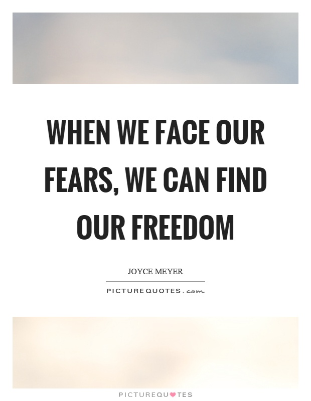 Facing fears essay