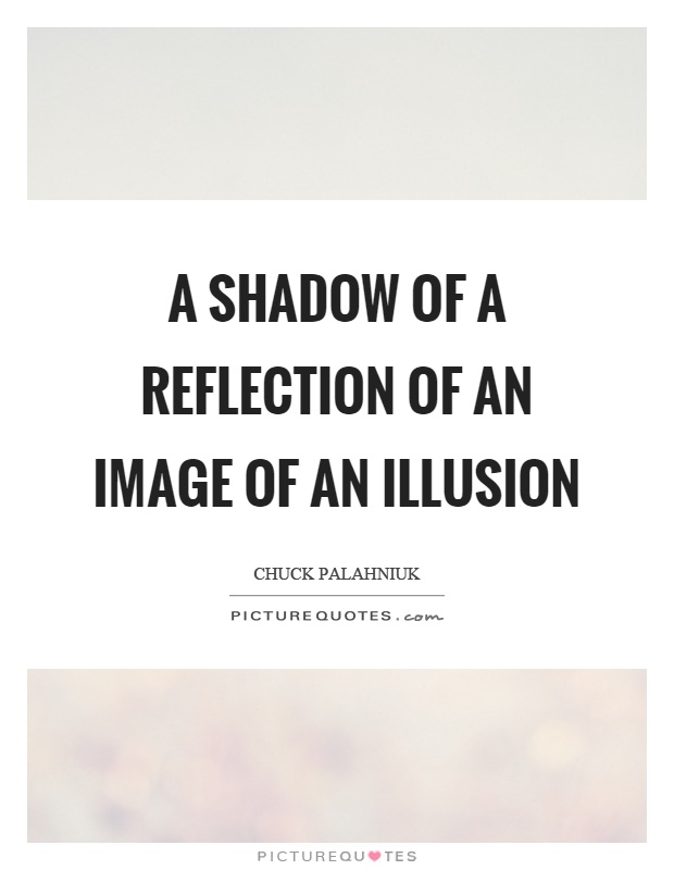 A shadow of a reflection of an image of an illusion Picture Quote #1