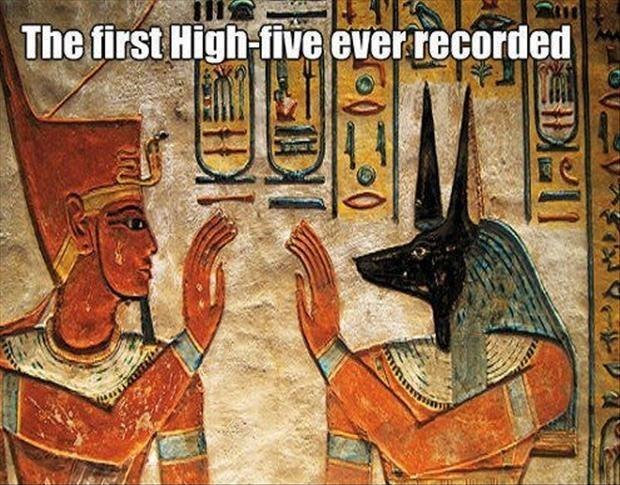The first high five ever recorded Picture Quote #1