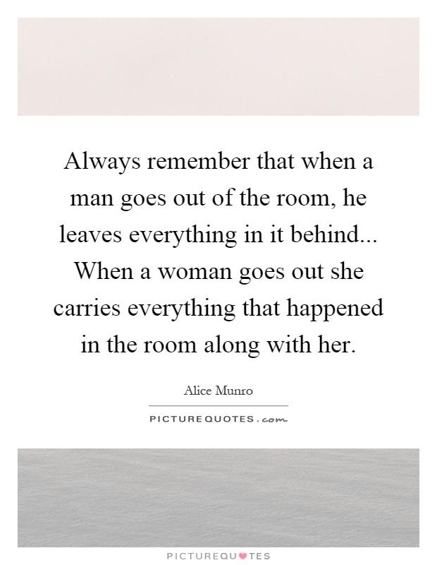 When a woman leaves a man