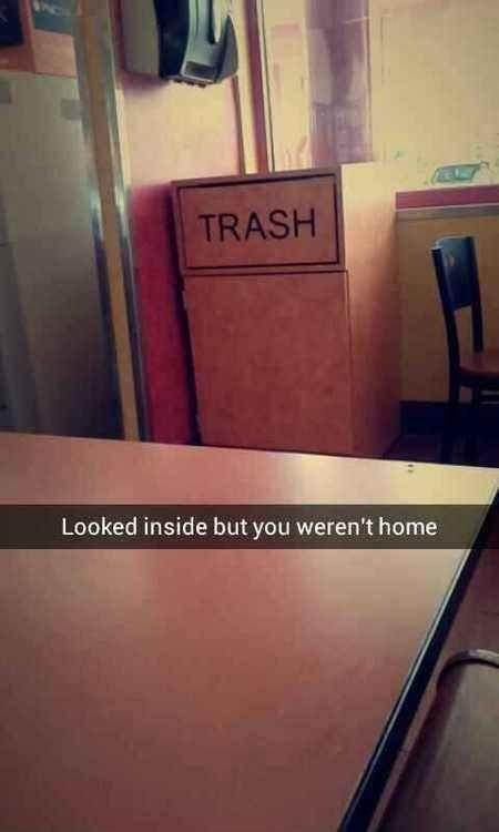 Looked inside but you weren't home Picture Quote #1