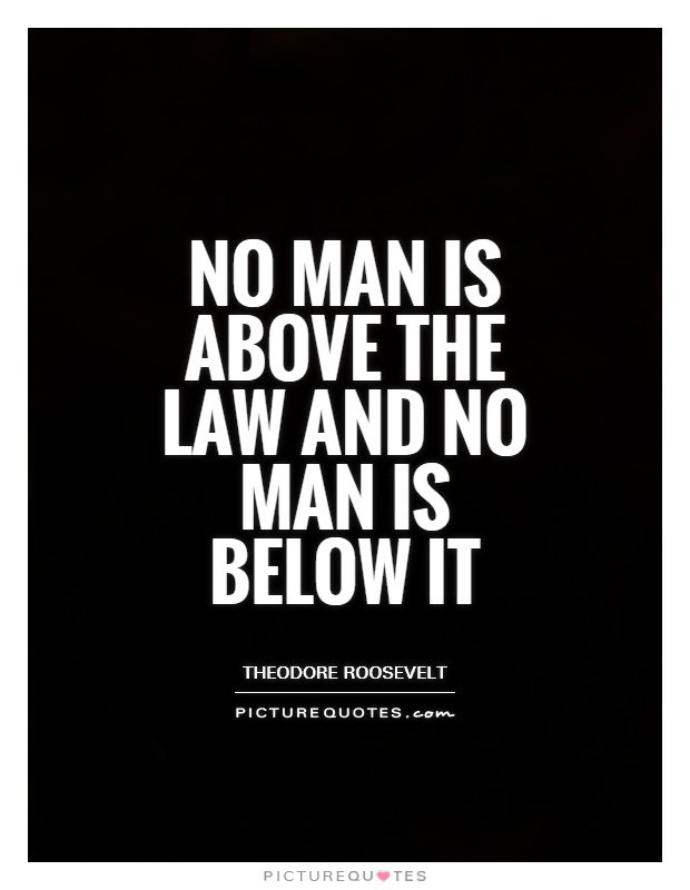 No man is above the law and no man is below it Picture Quote #1